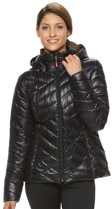 Women's Tek Gear® Hooded Packable Puffer Jacket $100 thestylecure.com