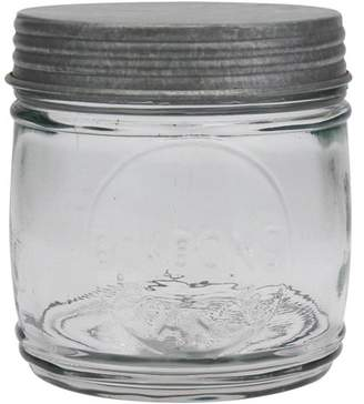 clear STONEBRIAR COLLECTION Stonebriar Collection Glass Embossed Bonbon Jar with Antique Galvanized Lid