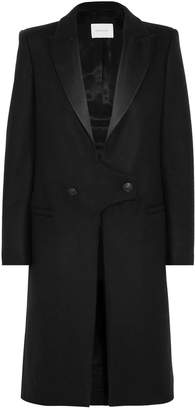 Pierre Balmain Satin-trimmed Wool Coat
