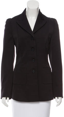 prada Prada Fitted Long Blazer