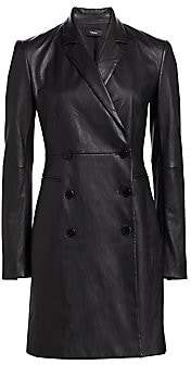 Theory Women's Leather Blazer Dress - Size 0