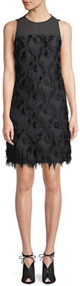 MICHAEL Michael Kors Feather Textured Shift Dress
