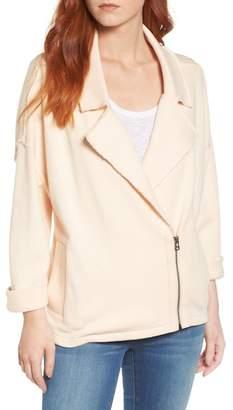 Caslon R) Knit Moto Jacket (Regular & Petite)
