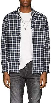 R 13 Men's Plaid Flannel Shirt