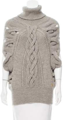 Gucci Alpaca & Wool Cable Knit Poncho
