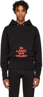 Helmut Lang Black Brian Roettinger Logo Hack Standard Hoodie