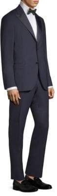 Boglioli Men's Classic Fit Tonal Wool Tuxedo - Navy - Size 48 (38) R
