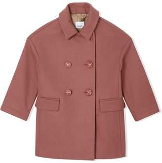 Burberry Melton Wool Tailored Pea Coat