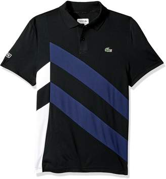 Lacoste Men's Tennis Short Sleeve Side Colorblock Polo