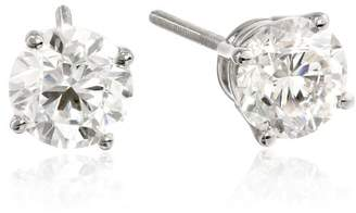 IGI Platinum Round Cut Diamond Stud Earrings (2 cttw