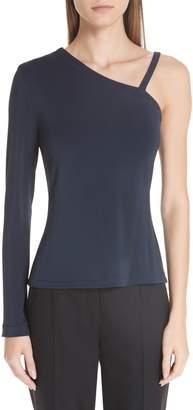 Yigal Azrouel One-Shoulder Matte Jersey Top