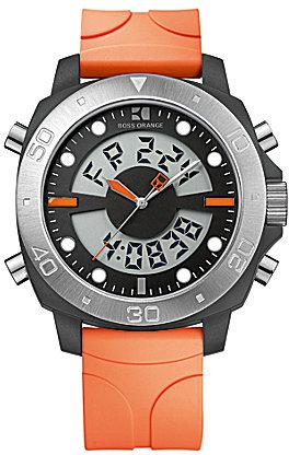 HUGO BOSS BOSS Orange Silicone Analog Digital Watch
