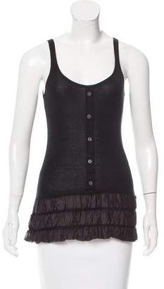 Burberry Ruffle-Trimmed Sleeveless Top w/ Tags
