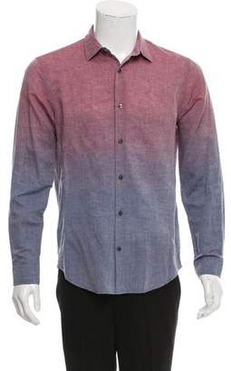 Vince Dip Dyed Chambray Button-Up Shirt