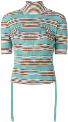 Fendi striped fitted top