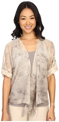 NIC+ZOE Eclipse 4 Way Woven Print Cardy $128 thestylecure.com