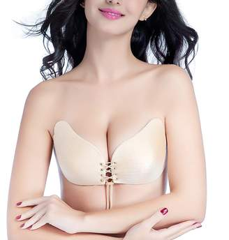 6bea4c02c4 Gorgeous Pixels Backless Self Adhesive Invisible Silicone Push Up Strapless  Bra with Drawstring