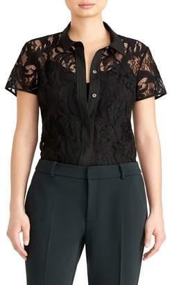 Rachel Roy COLLECTION Short Sleeve Lace Blouse