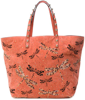RED Valentino dragonfly embellished tote