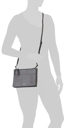 Double Zip Triple Compartment Leather Crossbody