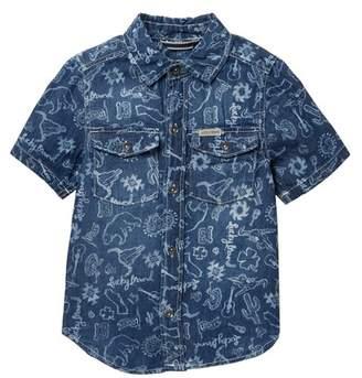 Lucky Brand Short Sleeve Denim Shirt (Little Boys)
