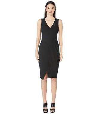 Yigal Azrouel Sleeveless One-Side Off Shoulder Mechanical Stretch