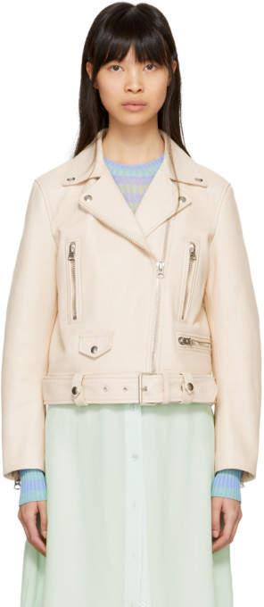 Pink Leather Mock Jacket