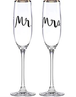 Kate Spade Bridal Party Flute Pair