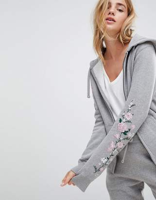Jack Wills Zip Through Hoodie with Embroidery