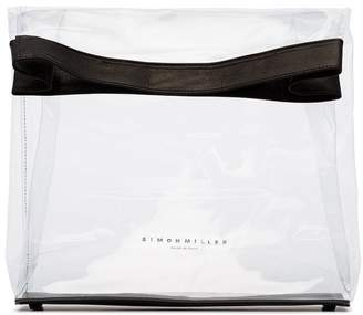 Simon Miller black and transparent lunchbag 30 PVC bag