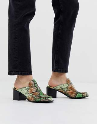 Jeffrey Campbell Multi Snake Slip on Mules