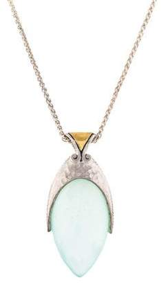 Gurhan Two-Tone Chalcedony Nobel Pendant Necklace