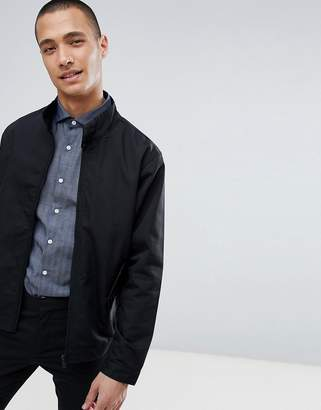 Process Black Cotton Harrington Jacket