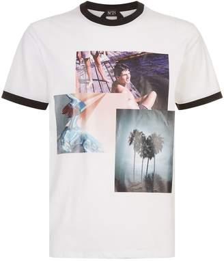 N°21 N 21 Photo Print T-Shirt