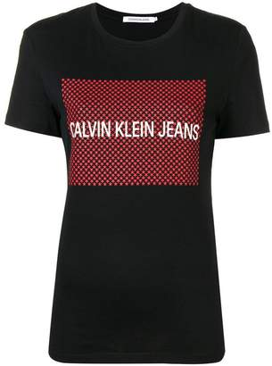 Calvin Klein Jeans logo stars print T-shirt