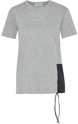 Jil Sander Shell-Appliquéd Two-Tone Cotton-Jersey T-Shirt