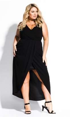 City Chic Citychic Cherish Maxi Dress - black