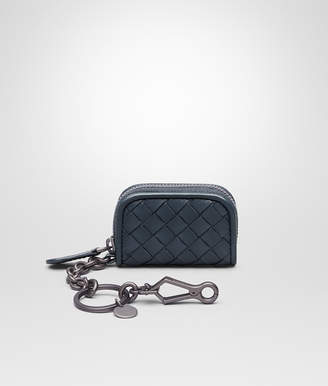 Bottega Veneta KEY RING IN DENIM INTRECCIATO NAPPA LEATHER