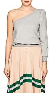 A.L.C. Women's Crane Cotton One-Shoulder Sweatshirt-Gray