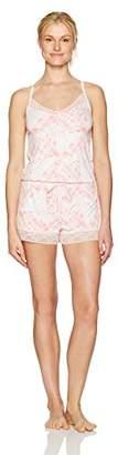 Mae Amazon Brand Women's Sleepwear Tank Romper Pajamas