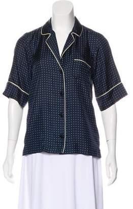 Dolce & Gabbana Silk Short Sleeve Top