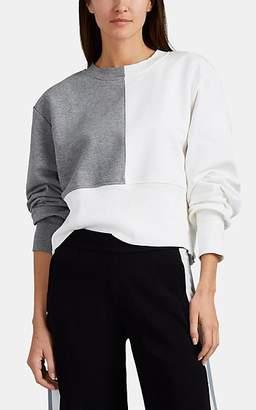 Maeve Vaara Women's Colorblocked Cotton-Blend Terry Sweatshirt - Gray