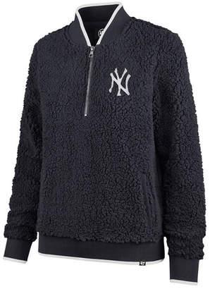 '47 Women's New York Yankees Sherpa Quarter-Zip Pullover