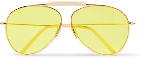 Acne Studios Howard Aviator-Style Gold-Tone And Acetate Sunglasses