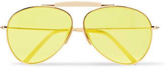 Acne Studios Howard Aviator-Style Gold-Tone and Acetate Sunglasses - Gold