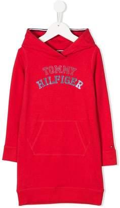 Tommy Hilfiger Junior branded hoodie dress