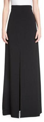 Cushnie Et Ochs High-Waist Front-Slit Maxi Skirt, Black $1,195 thestylecure.com