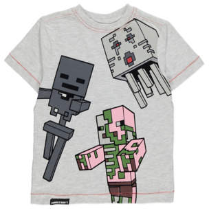 George Minecraft Grey Short Sleeve Top