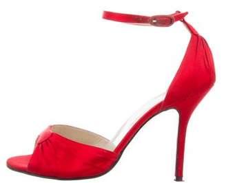 Christian Louboutin Satin Ankle Strap Sandals