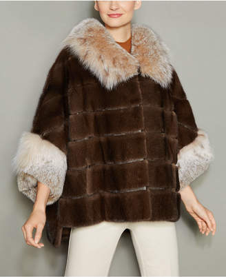 The Fur Vault Lynx-Fur-Trim Mink Fur Jacket